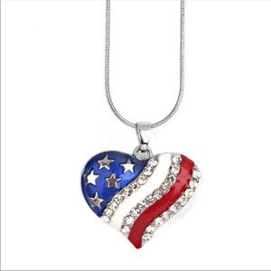 Jewelry - ‼️LAST1‼️ Patriotic Heart Necklace